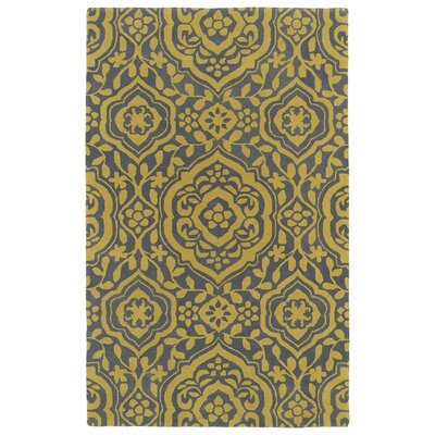 Corine Yellow Area Rug Rug Size: Rectangle 3 x 5