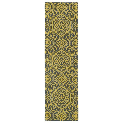 Corine Yellow Area Rug Rug Size: Runner 23 x 8