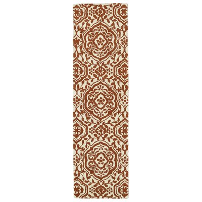 Corine Orange Area Rug Rug Size: Runner 23 x 8
