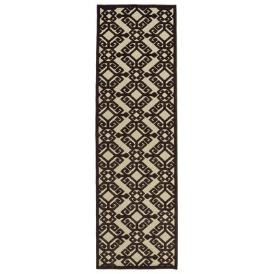 Covedale Machine Woven Chocolate Indoor/Outdoor Area Rug Rug Size: 710 x 108