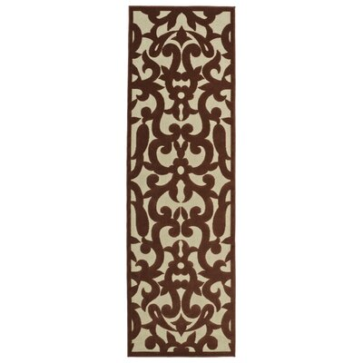 Covedale Machine Woven Terracotta Indoor/Outdoor Area Rug Rug Size: Runner 26 x 71