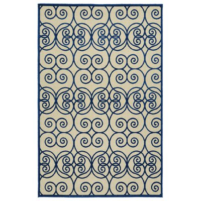 Covedale Hand-Woven Navy Indoor/Outdoor Area Rug Rug Size: Rectangle 5 x 76