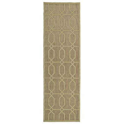 Covedale Khaki Indoor/Outdoor Area Rug Rug Size: Runner 26 x 71