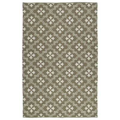 Covington Taupe/Cream Indoor/Outdoor Area Rug Rug Size: Rectangle 8 x 10