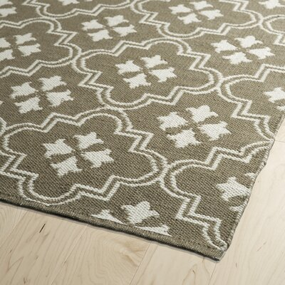 Covington Taupe/Cream Indoor/Outdoor Area Rug Rug Size: Rectangle 5 x 76