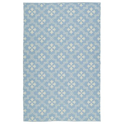 Covington Light Blue/Cream Indoor/Outdoor Area Rug Rug Size: 9 x 12