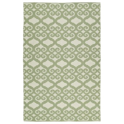 Covington Green/Cream Indoor/Outdoor Area Rug Rug Size: 9 x 12