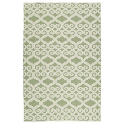 Covington Cream/Green Indoor/Outdoor Area Rug Rug Size: Rectangle 9 x 12