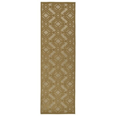 Covedale Light Brown Indoor/Outdoor Area Rug Rug Size: Runner 26 x 71