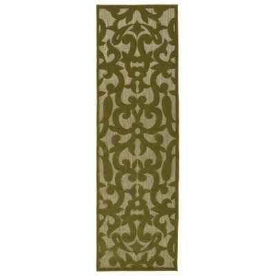 Covedale Machine Woven Olive Indoor/Outdoor Area Rug Rug Size: Runner 26 x 710