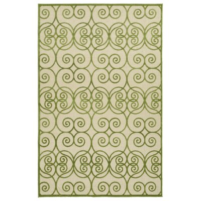 Covedale Green/Cream Indoor/Outdoor Area Rug Rug Size: Runner 26 x 710