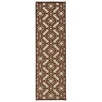 Covedale Terracotta Indoor/Outdoor Area Rug Rug Size: Runner 26 x 71