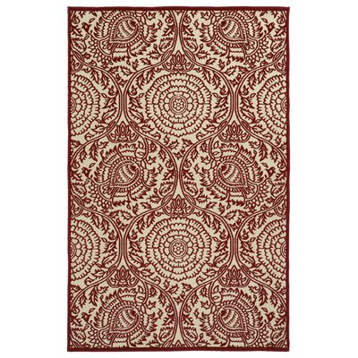 Covedale Machine Woven Red Indoor/Outdoor Area Rug Rug Size: Rectangle 5 x 76