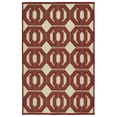 Covedale Red Indoor/Outdoor Area Rug Rug Size: Rectangle 5 x 76