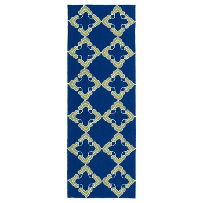 Cowan Hand-Tufted Navy Indoor/Outdoor Area Rug Rug Size: Runner 2 x 6