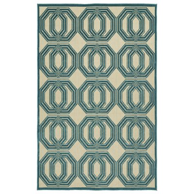 Covedale Blue Indoor/Outdoor Area Rug Rug Size: Rectangle 5 x 76