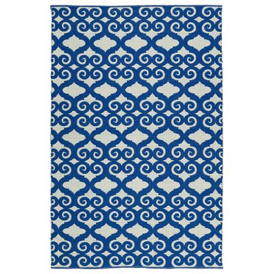 Covington Navy/White Indoor/Outdoor Area Rug Rug Size: Runner 2 x 6