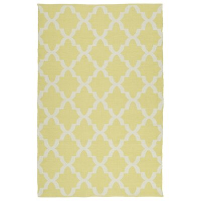 Covington Yellow/White Indoor/Outdoor Area Rug Rug Size: 3 x 5