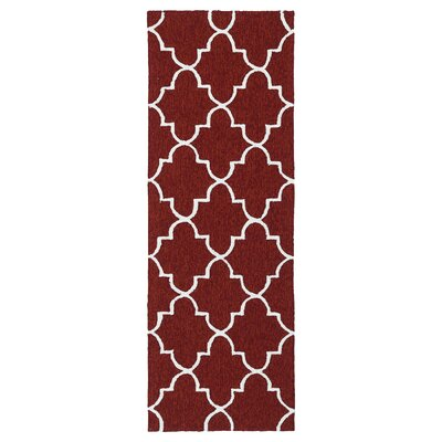 Cowan Hand-Tufted Red Indoor/Outdoor Area Rug Rug Size: Runner 2 x 6