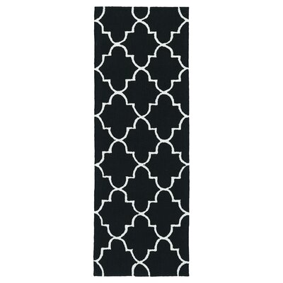 Cowan Black Indoor/Outdoor Area Rug Rug Size: Rectangle 9 x 12