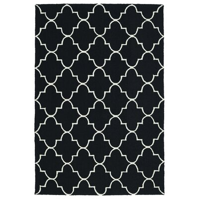 Cowan Black Indoor/Outdoor Area Rug Rug Size: Rectangle 5 x 76