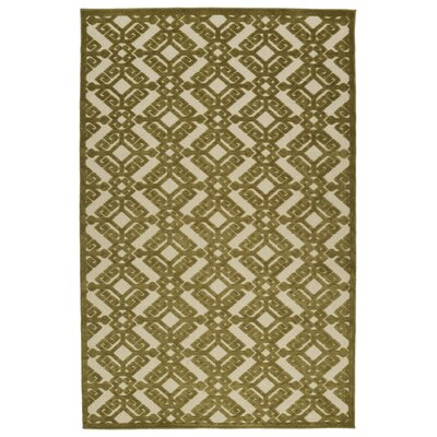 Covedale Green/Cream Indoor/Outdoor Area Rug Rug Size: Rectangle 88 x 12