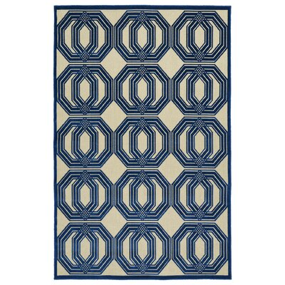 Covedale Navy Indoor/Outdoor Area Rug Rug Size: Rectangle 5 x 76
