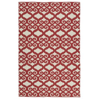 Covington Red/White Indoor/Outdoor Area Rug Rug Size: 3 x 5