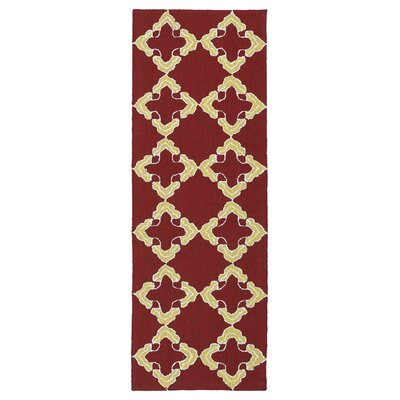 Cowan Red/Yellow Indoor/Outdoor Area Rug Rug Size: Runner 2 x 6