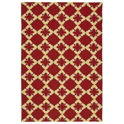 Cowan Red/Yellow Indoor/Outdoor Area Rug Rug Size: 4 x 6