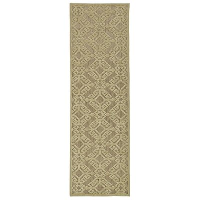Covedale Machine woven Khaki Indoor/Outdoor Area Rug Rug Size: Runner 26 x 71
