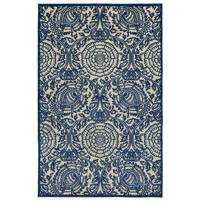 Covedale Machine Woven Navy/Cream Indoor/Outdoor Area Rug Rug Size: Runner 26 x 710