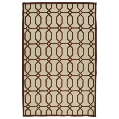 Covedale Terracotta & Cream Indoor/Outdoor Area Rug Rug Size: 310 x 58
