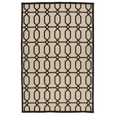 Covedale Brown/Cream Indoor/Outdoor Area Rug Rug Size: 710 x 108