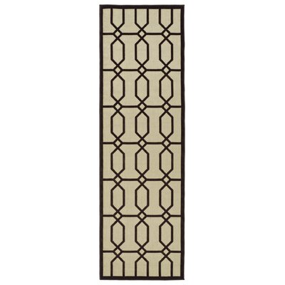 Covedale Brown/Cream Indoor/Outdoor Area Rug Rug Size: Rectangle 21 x 4