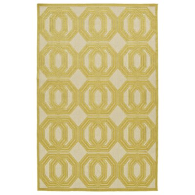 Covedale Gold & Cream Indoor/Outdoor Area Rug Rug Size: Rectangle 5 x 76