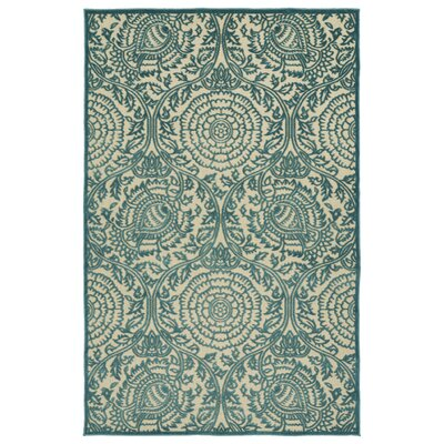 Covedale Machine Woven Blue Indoor/Outdoor Area Rug Rug Size: Rectangle 21 x 4