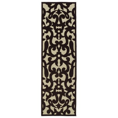 Covedale Machine Woven Chocolate Brown Indoor/Outdoor Area Rug Rug Size: Runner 26 x 710