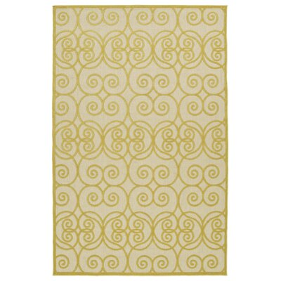 Covedale Gold Indoor/Outdoor Area Rug Rug Size: Rectangle 5' x 7'6