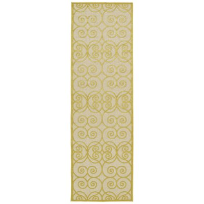 Covedale Gold Indoor/Outdoor Area Rug Rug Size: Runner 26 x 710