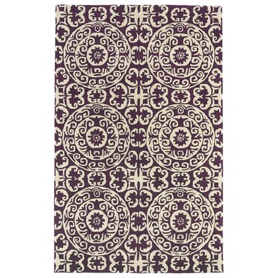 Corine Purple Area Rug Rug Size: Rectangle 3' x 5'