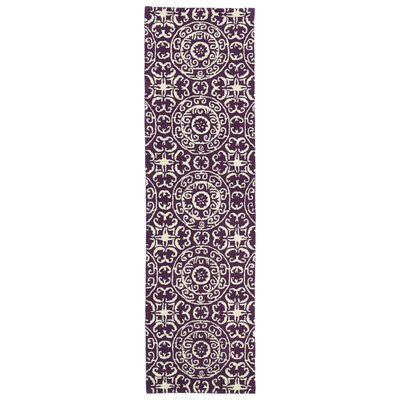 Corine Purple Area Rug Rug Size: Runner 2'3