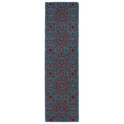 Corine Peacock Area Rug Rug Size: Runner 23 x 8