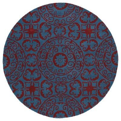 Corine Peacock Area Rug Rug Size: Round 99