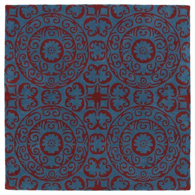 Corine Peacock Area Rug Rug Size: Square 79