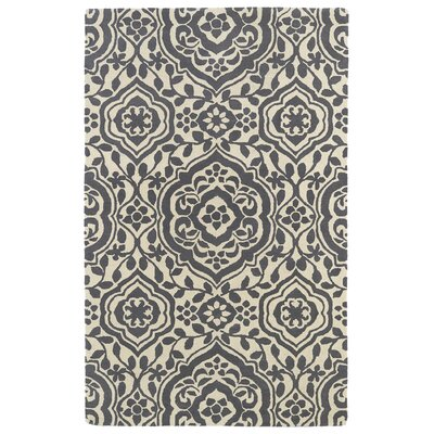 Corine Grey Area Rug Rug Size: Rectangle 3 x 5