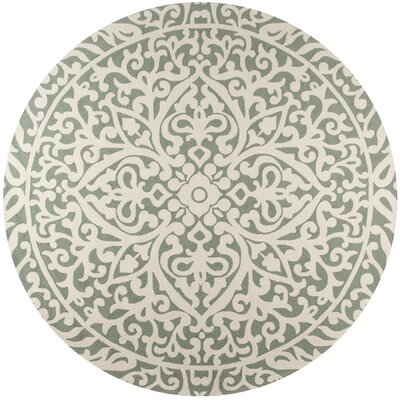 St James Blue Indoor/Outdoor Area Rug Rug Size: Round 9