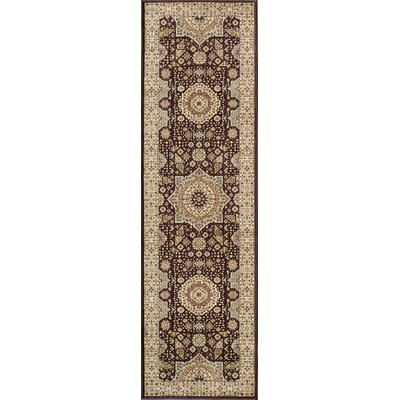 Crescent Brown Area Rug Rug Size: Runner 23 x 76