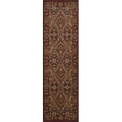 Crescent Red Area Rug Rug Size: Runner 23 x 76