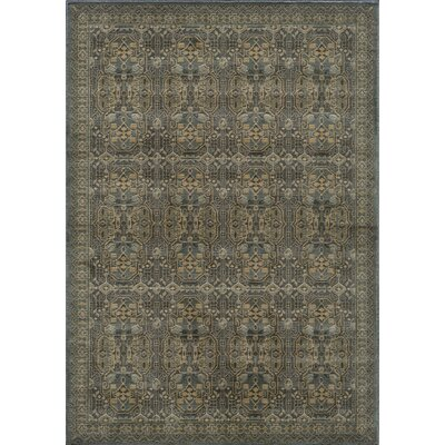 Crescent Light Blue Area Rug Rug Size: Rectangle 53 x 76